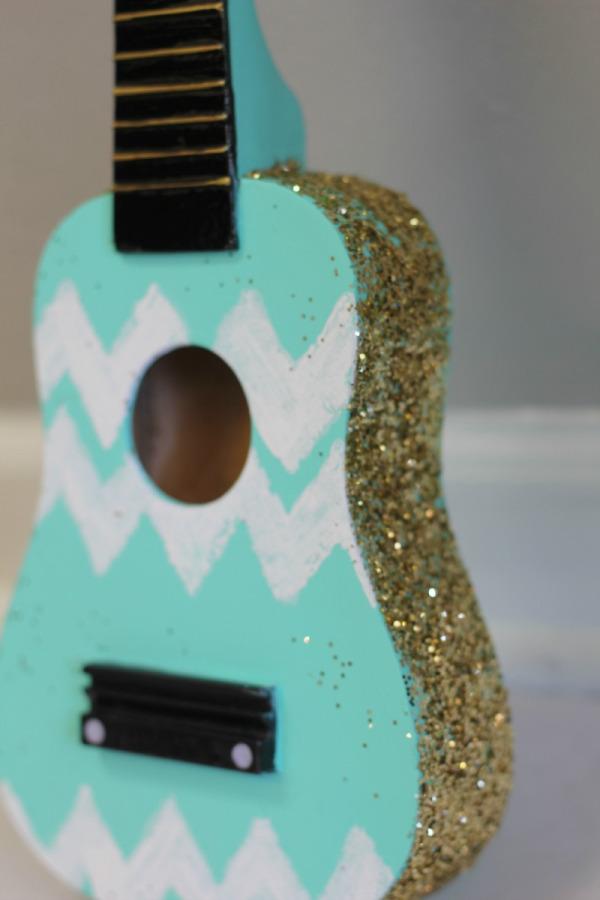 glittered ukulele
